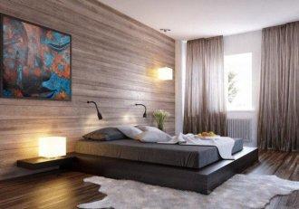 Необычный подход к отделке – ламинат на стене