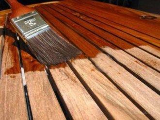 Окрашивание деревянных поверхностей при помощи акриловых красок