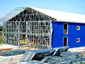 Строительство зданий из легких металлоконструкций