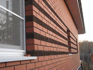 Особенности облицовки фасада дома кирпичом