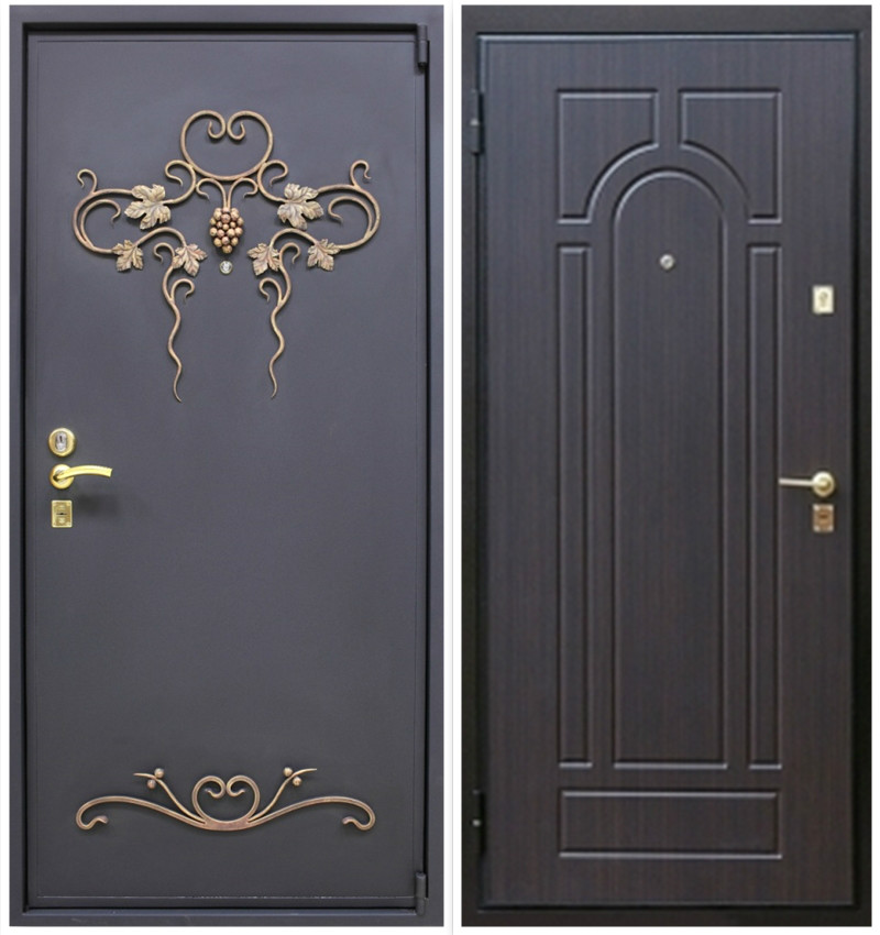 металлические двери на во