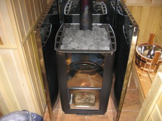 Как установить печь в готовую баню