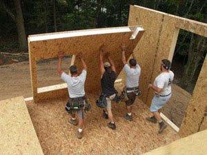 Строим каркасный дом из СИП-панелей