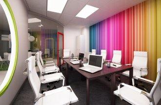 Цветовые решения в обустройстве офиса для персонала